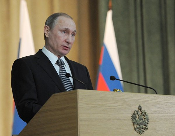 Президент России принял участие в заседании коллегии МВД.