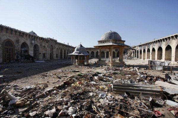 Большинство памятников Алеппо оказалось разрушенным.