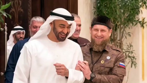 Наследный принц Абу-Даби и Рамзан Кадыров на одной из встреч.