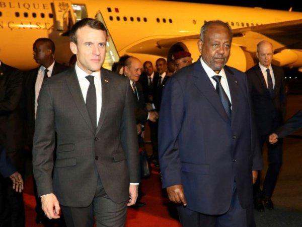 Эммануэль Макрон в Джибути.