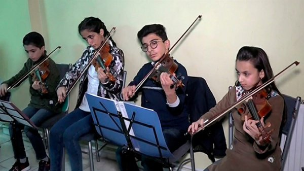 Музыкальная школа снова открылась в Алеппо.