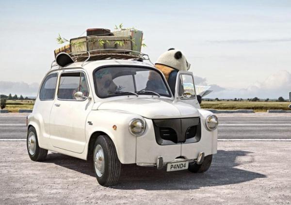 Fiat 600S 1967 года превратился в панду из-за формы кузова