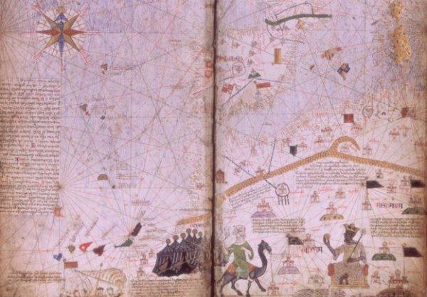 Карта 1375 года