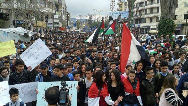 Протесты в Сирии.