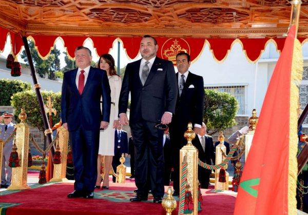 Иорданский и марокканский монархи.
