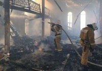 В Чечне огонь уничтожил мечеть