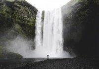 В Исландии туристов чуть не смыло громадной волной (ВИДЕО)