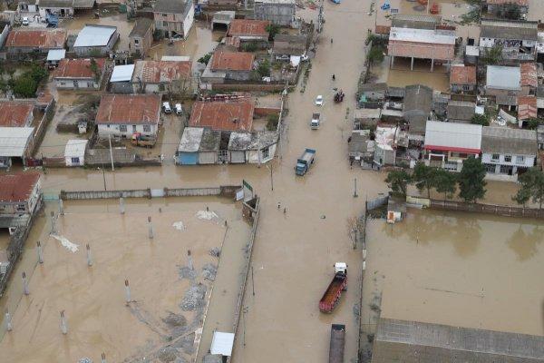 Последствия наводнений в Иране.