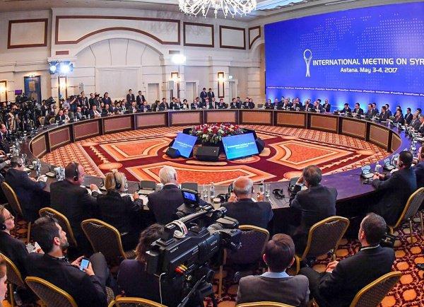 Очередной раунд межсирийских переговоров в казахстанской столице пройдет 25-25 апреля.