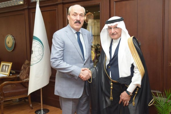 Рамазан Абдулатипов на встрече с Юсефом аль-Усеимином.