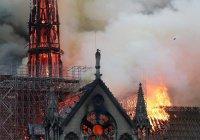 Знаменитый Нотр-Дам значительно пострадал от огня в Париже