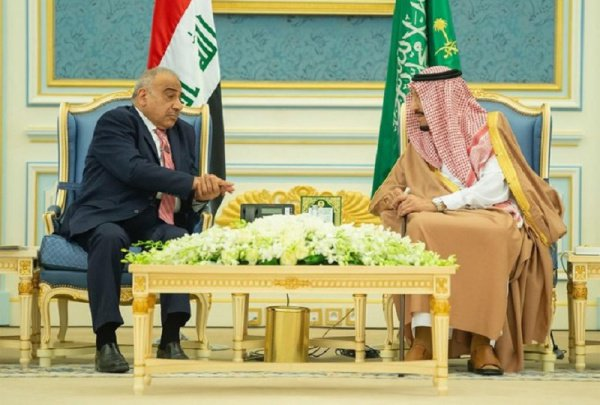 Премьер-министр Ирака и король КСА в Эр-Рияде.