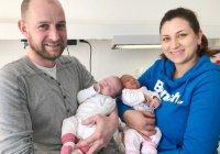В Германии близнецы родились с разницей в 97 дней