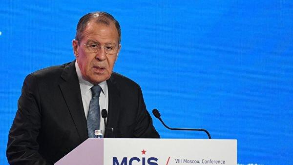 Глава МИД РФ выступил на Московской конференции по международной безопасности.