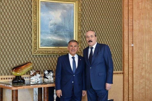Минниханов и Абдулатипов на встрече в Доне правительства РТ.