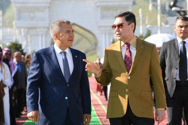 Президенты Татарстана и Туркменистан на встрече в Ашхабаде.