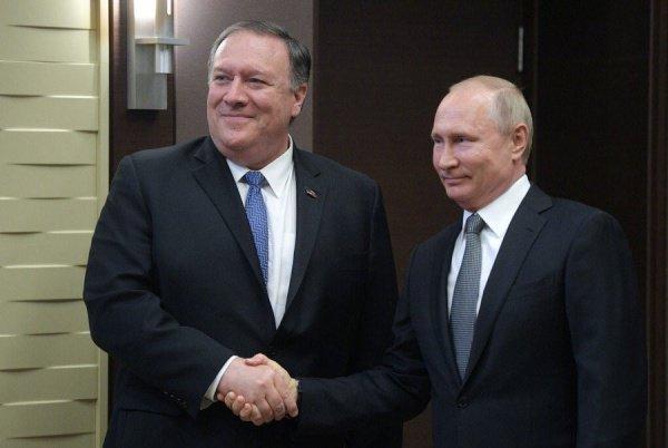 В Сочи прошла встреча Путина и Помпео.