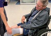 В США мужчина ампутировал себе ногу складным ножом, чтобы выжить