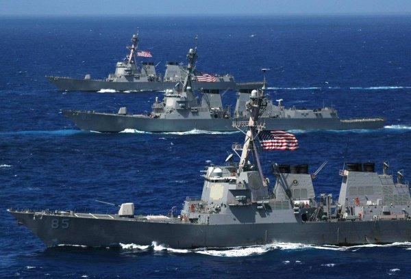 В Персидском заливе заметили группу американских кораблей.