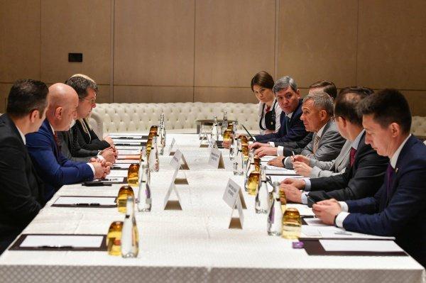 Президент Татарстана на встрече с губернатором Стамбула.