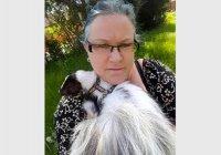 В Англии скунс спас женщину от  депрессии
