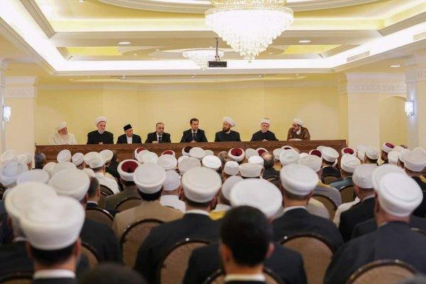Президент Сирии пообщался с богословами.