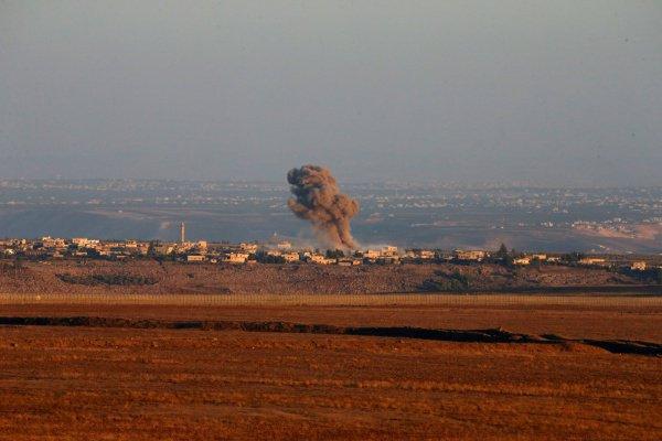 Сирийская деревня попала под удар израильской армии.