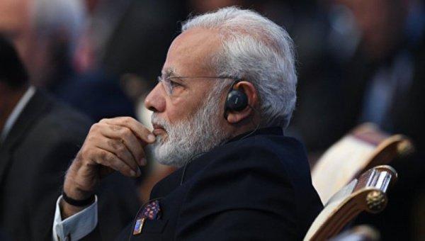 Нарендра Моди принимает участие в саммите ШОС.