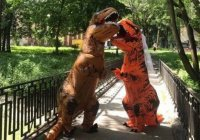 В Украине поженились 2 «тираннозавра» (ВИДЕО)