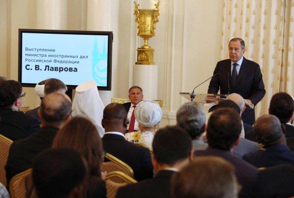 Сергей Лавров на презентации ГСВ.