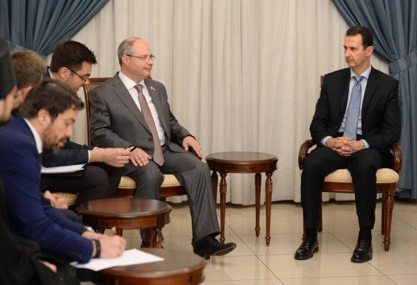 Участники встречи в Дамаске.