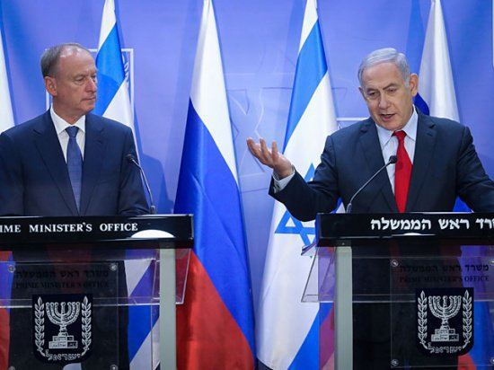Патрушев и Нетаньяху на переговорах в Иерусалиме.