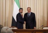 Лавров обсудил Ближний Восток с коллегой из ОАЭ