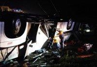 Автобус из Татарстана опрокинулся в Башкирии, есть погибшие