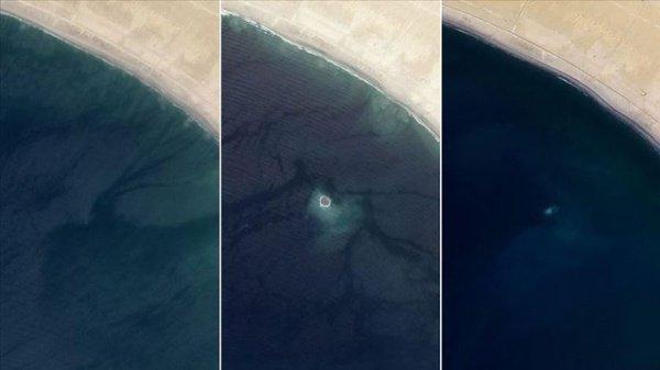 Спутниковые снимки острова с 2013 по 2019 год.