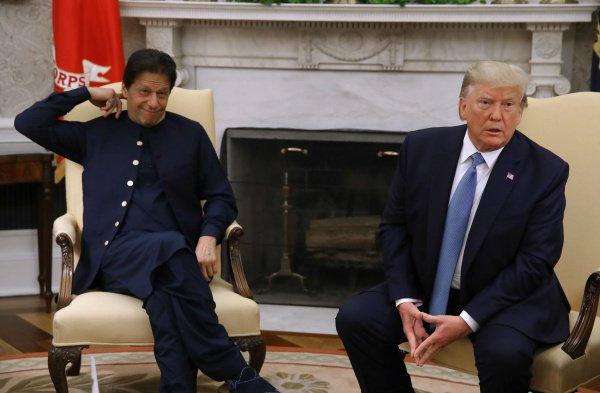 Встреча Трампа и Хана состоялась в Вашингтоне.