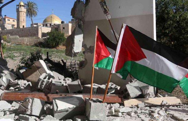 Власти Палестины намерены ответить на разрушение палестинских домов.