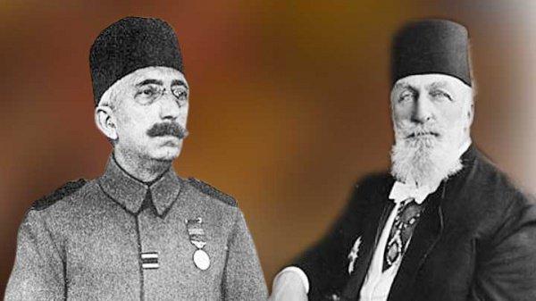 Последний турецкий султан Мехмед VI Вахидеддин и последний халиф Абдулмеджид Эфенди.