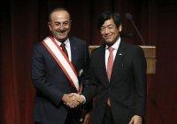 Глава МИД Турции получил высшую награду Японии