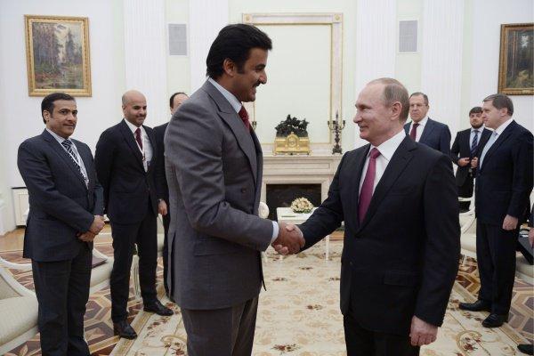 Тамим бен Хамад Аль Тани выразил удовлетворенность уровнем двустороннего сотрудничества Катара и России (Фото: Алексей Никольский/ТАСС)