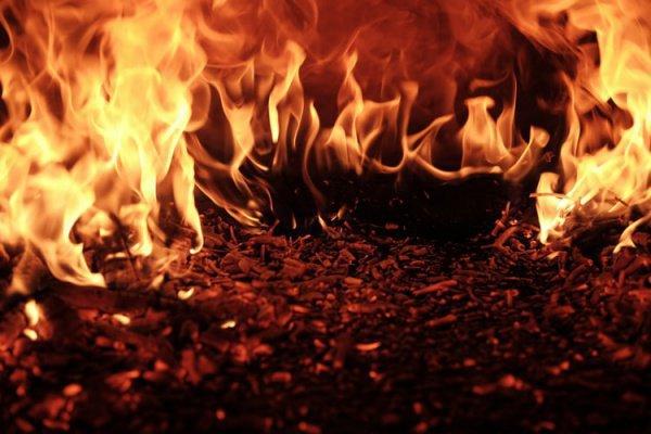 Причина пожара пока неизвестна