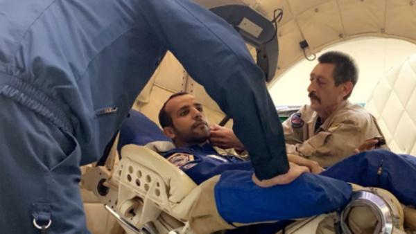 Во время проверки выносливости космонавтов на центрифуге были созданы воздействия высокой нагрузки, превышающей силу тяжести в 8 раз