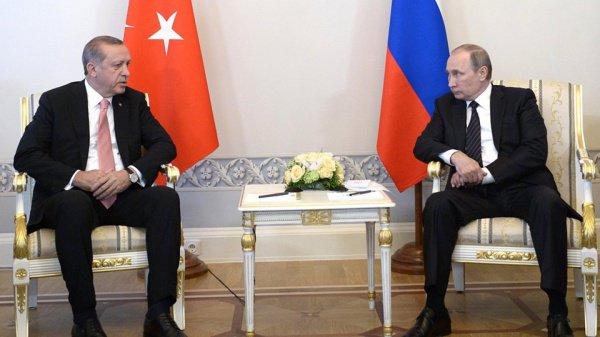 Владимир Путин и Реджеп Тайип Эрдоган обсудили вопросы сирийского урегулирования (Фото: Пресс-служба Президента России)