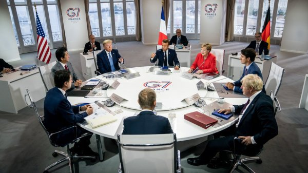 Саммит G7 завершает работу в Биаррице.