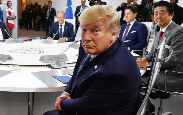 Дональд Трамп на саммите Группы семи.