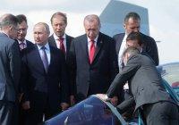 Путин и Эрдоган осмотрели кабину новейшего истребителя Су-57