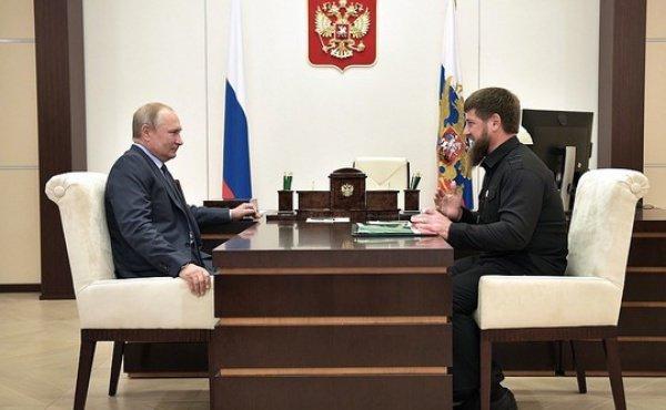 Путин и Кадыров на встрече в Кремле.
