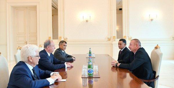 Николай Патрушев на встрече с Ильхамом Алиевым.