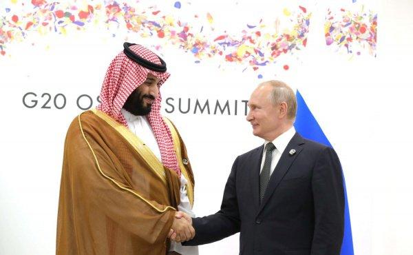 Владимир Путин и принц Мухаммед на саммите G20 в Осаке.