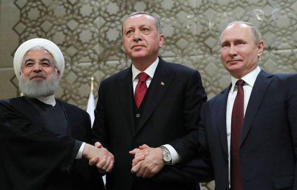 Президенты России, Турции и Ирана обсудят сирийское урегулирование.